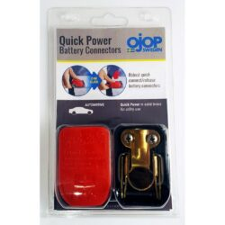 Set of Quick release battery clamps RED and BLUE
