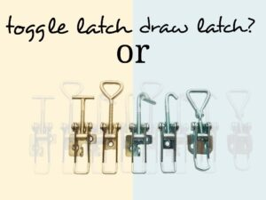 Toggle latch or draw latch