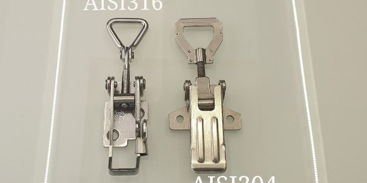 What's the difference between AISI 304 and AISI 316 stainless steel latches?