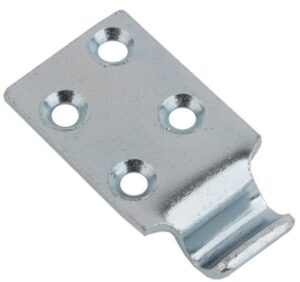 Catch plate Medium size Produced from Zinc plated Steel with Countersunk mounting holes.