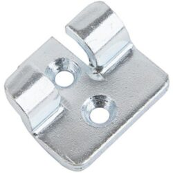 Catch plate Large size Manufactured from Chrome plated Steel with Countersunk mounting holes.