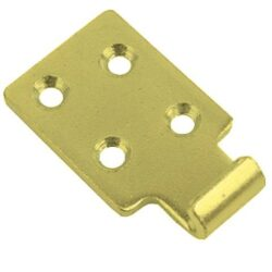 Catch plate Large size Produced from Zinc plated and yellow passivated Steel with Countersunk mounting holes.