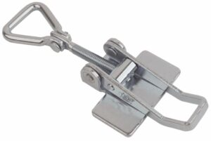 Toggle latch Medium size for welding with Hinged Triangle screw loop