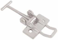 Over centre latch Stainless steel Medium size countersunk holes with T screw