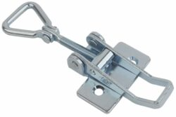 Adjustable Over center latch Medium size countersunk holes with Hinged Triangle screw loop