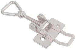 Over centre Toggle latch Stainless steel Medium size countersunk holes with Hinged Triangle screw loop