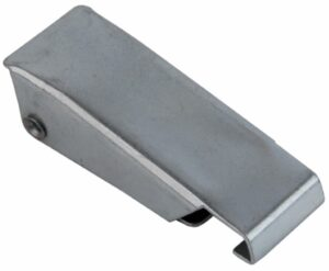Case Draw latch Zinc plated steel Small size straight holes for rivet with Covered hook and friction ring