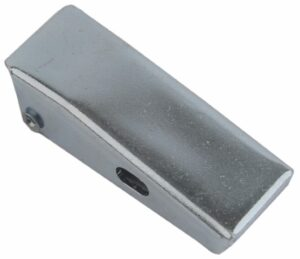 Draw latch Zinc plated steel Small size straight holes for rivet with Covered hook and friction ring