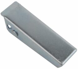 Tool box latch Zinc plated steel Medium size countersunk holes with Covered hook and friction ring