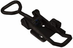 Military latch Black countersunk holes with Triangle screw loop safety catch and friction ring